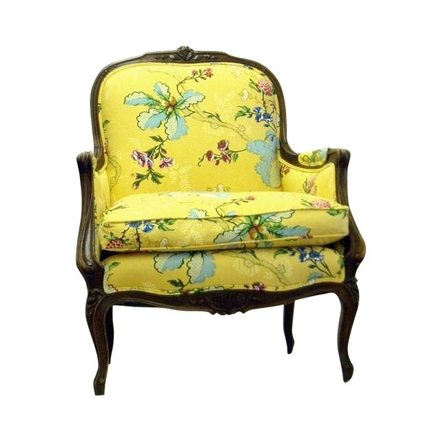 Yellow Lady's Chair With Down Cushion - Image 1 of 7