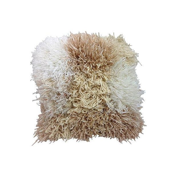 Fringe Wool 1960's Pillow - Image 1 of 3