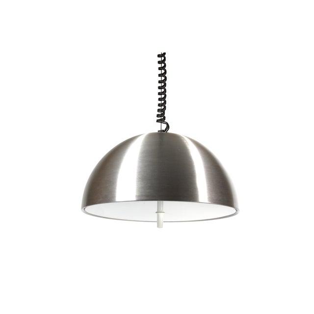 1970s Retractable Aluminum Ceiling Light - Image 3 of 6
