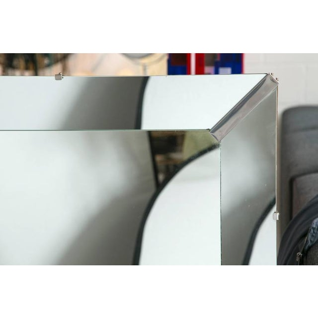 Beveled Rectangular Stepped Mirror with Chrome Accents - Image 5 of 6