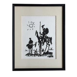 Mid-Century Picasso Don Quixote Linocut
