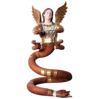 Large Angelic Serpentine Sculpture by Pedro Friedeberg