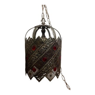 Vintage Medieval Mediterranean Lantern Pendant Lights - a Pair