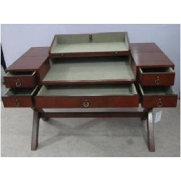 Leather Writing Desk With Drawers - Image 2 of 4