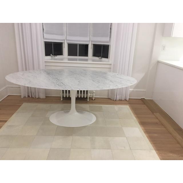 Knoll & Eero Saarinen White Dining Table - Image 2 of 11