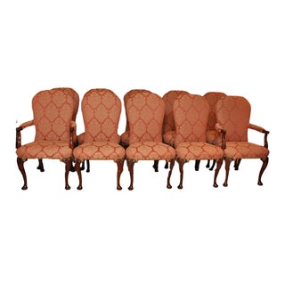 Kindel Balloon Dining Chairs, Nailhead Trim Upholstered - Set of 10