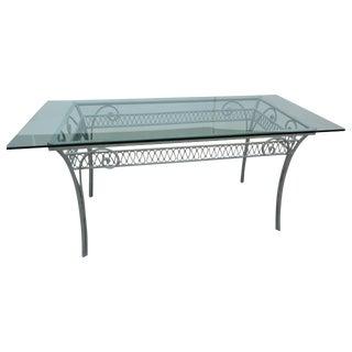 1920 Italian Wrought Iron Patio Table