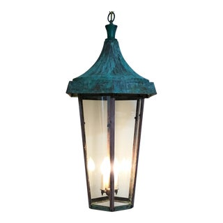 Large One of a Kind Copper Hanging Lantern