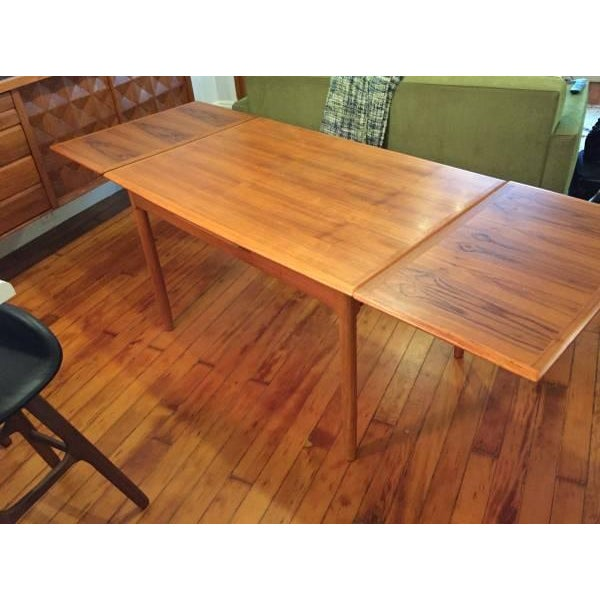 Mid-Century Modern Draw Leaf Dining Table - Image 5 of 6