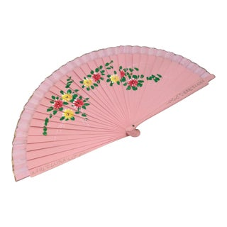 Spanish Pink Floral Fan