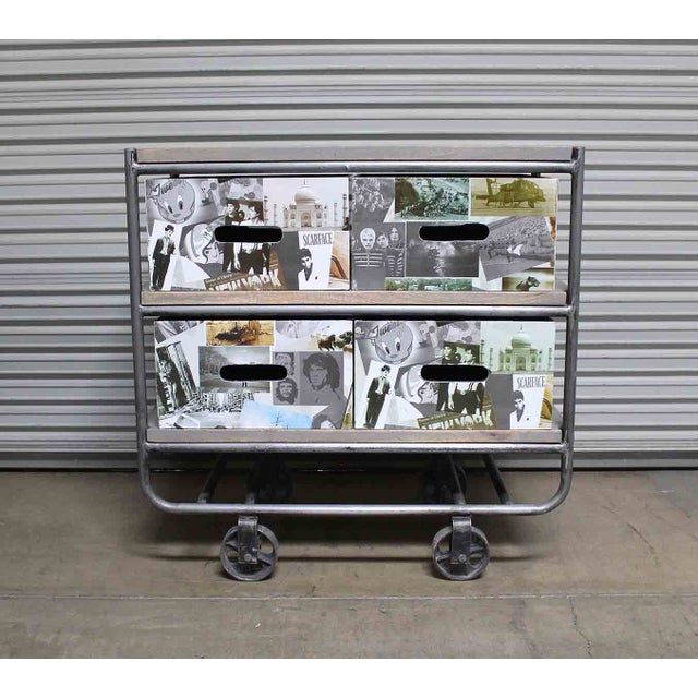 Photo Collage 2-Tier IronTrolley with Storage - Image 3 of 6