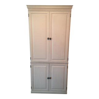 Hand-Painted Solid Hardwood Armoire