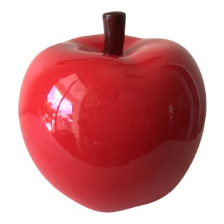 Ceramic Red Apple Figurine
