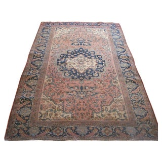 Antique Persian Sarouk Farahan Rug -  4′1″ × 6′3″