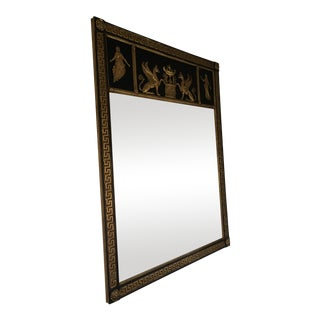 Greek Key Black & Gold Mirror