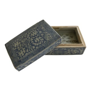 Asian Ceramic Lidded Box