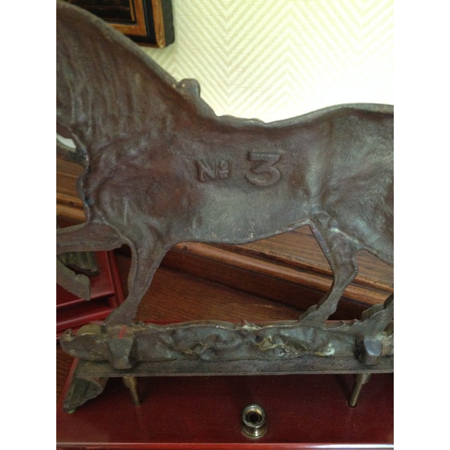 Antique Cast Iron Horse Molds - a Pair - Image 5 of 7