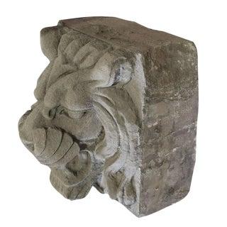 American Carved Limestone Lion Head Facade Ornament