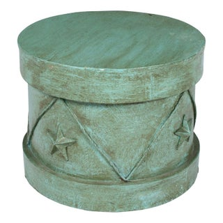 Decorative Blue Circus Stool