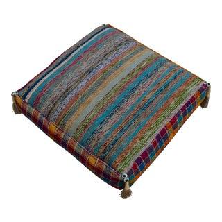 Turkish Hand Woven Kilim Sitting Pillow Decorative Cushion Cover- 22″ X 22″
