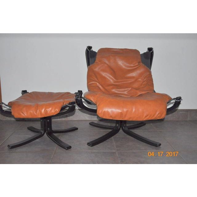 Image of Falcon Chair and Ottoman Set