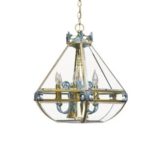 6 Light Glass Atrium Chandelier