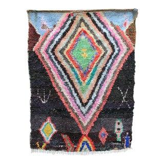 """Vintage Moroccan Boucherouite Carpet - 49"""" x 65"""""""