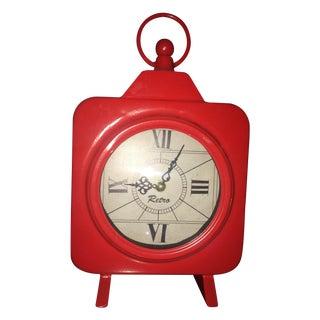 Vintage Red Aluminum Clock
