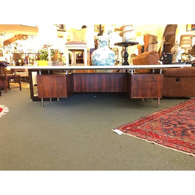 Mid-Century Executive Desk, Marble Top - Image 2 of 11