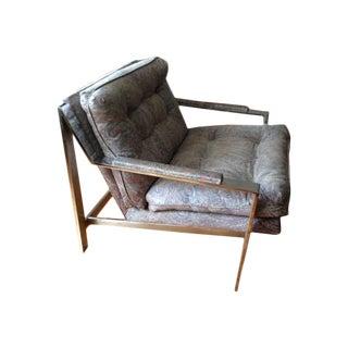 Milo Baughman Vintage Chrome Metal Chair