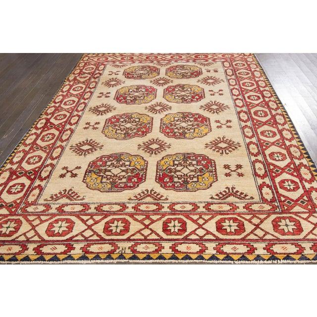 "Vintage Red & Tan Apadana Persian Rug- 6'5"" X 9'7"" - Image 3 of 6"