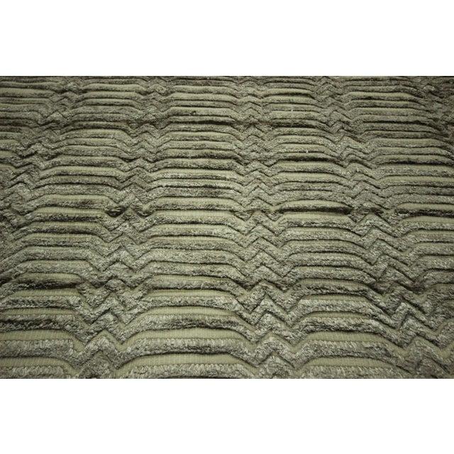 "Wool & Silk Pile Gray Moroccan Rug - 7'4"" x 8'2"" - Image 8 of 10"
