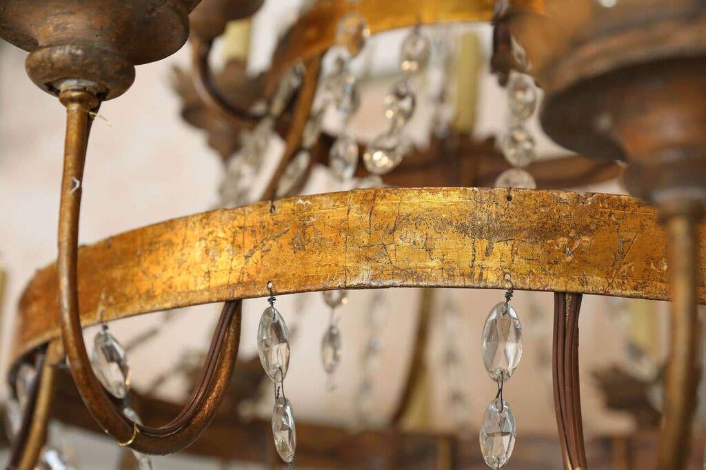 Distinguished Large Early 19th Century Chandelier From