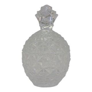 Vintage Glass Pineapple Lidded Vessel