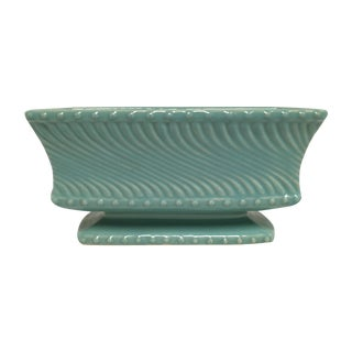 Mid-Century McCoy Aqua Pottery Footed Planter