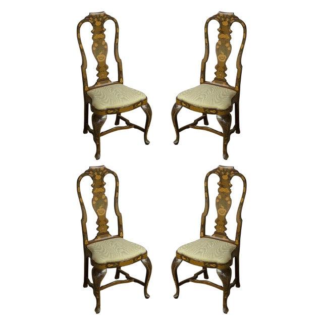 Vintage Sarreid LTD Queen Anne Side Chairs - Set of 4 - Image 1 of 3