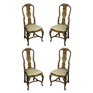 Vintage Sarreid LTD Queen Anne Side Chairs - Set of 4