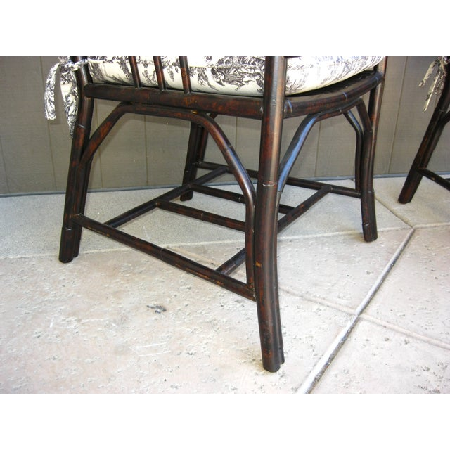 Black French Country Style Bamboo Chairs - Pair - Image 11 of 11