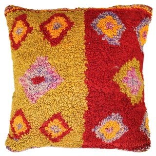 Colorful Boho Chic Tulu Carpet Pillow