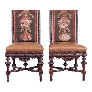 Mid-19th Century French Napoleon III Walnut Chairs - Set of 6