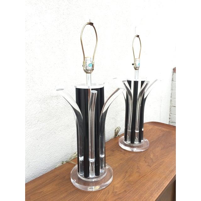 Image of Joe Colombo Italian Acrylic Lamps