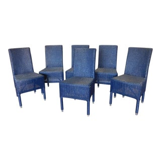 Blue Janus Et Cie Deauville II Outdoor Wicker Dining Room Side Chairs - Set of 6