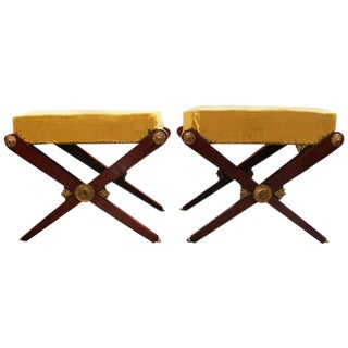 Pair of French I Empire Tabourets