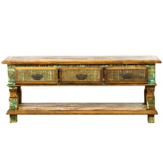 Handmade Reclaimed Solid Wood Vintage Console Table Moving Sale 30% Off