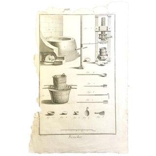18th-Century French Butcher Print