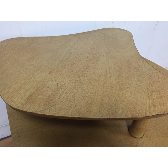 Image of Bleached Mahogany Two Tiered Corner Table