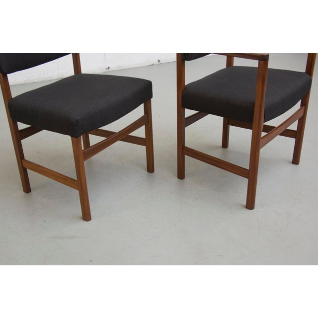Masculine Danish Mid-Century Dining Chairs - 6 - Image 6 of 11