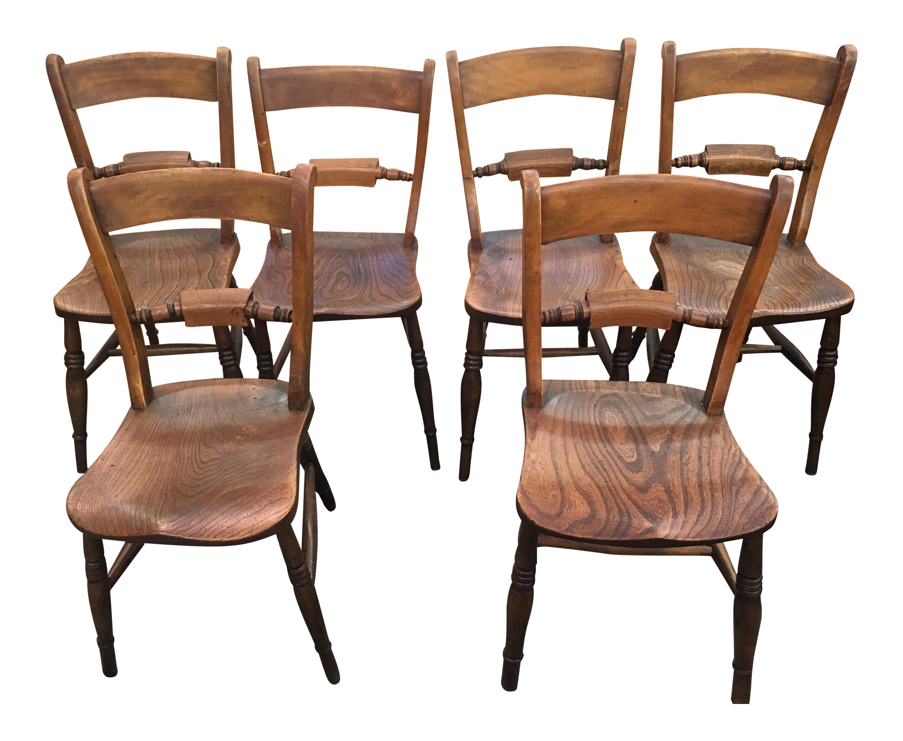 antique french country oak dining chairs set of 6