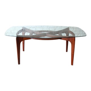 Adrian Pearsall for Craft Associates Sculpted Walnut and Glass Dining Table