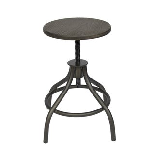 Adjustable Industrial Bamboo Top Work Stool